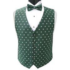 Irish Shamrocks Tuxedo Vest and Bowtie