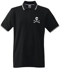 PIRAT CLASSIC Tipped Poloshirt Black/white