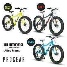 "PROGEAR Cracker Fat Tyre Bike 17"" x 26"" Shimano 7-Speed Alloy Frame Bicycle"