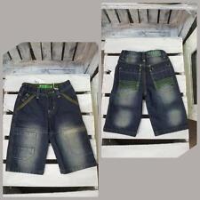 Garçons okaidi short jeans bleu foncé longueur 3/4 (K-34)