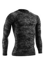Funktionsshirt TERVEL DIGITAL, Herren langarm Sportshirt, Camouflage Shirt b/g