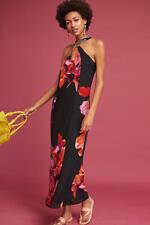 NEW Anthropologie Maeve Cayman Silk Maxi Dress Size L