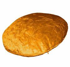 Mn127n Old Gold Shimmer Crushed Velvet Round Shape Cushion Cover Custom Size