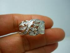 STUNNING 14K WG LADIES DIAMOND CLUSTER BAND RING SIZE 9.5 2.50 CARATS TW G87836