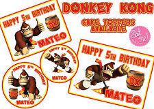 Donkey Kong Personalised Customised Edible Image REAL Icing Birthday Cake Topper