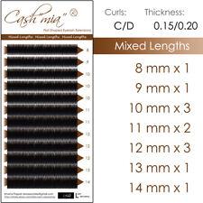 Mixed Length Flat X-wrap Individual Eyelash Extension Semi Permanent