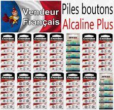 Piles boutons 1,5V Alcaline - Modèle AG10 LR54 LR1130 389 LR41 LR44 LR43 LR66
