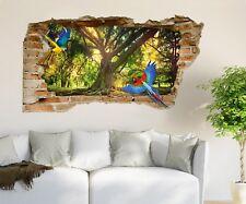 3D Parrot Big Tree 52 Wall Murals Wall Stickers Decal breakthrough AJ WALL CA