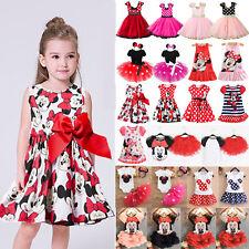 Kids Baby Girls Minnie Mouse Tutu Princess Dress Casual Wedding Party Mini Skirt