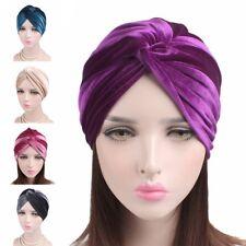 Womens Stretch Velvet Turban Headband Ear Warmer Hat Headwear Head Cover Scarf