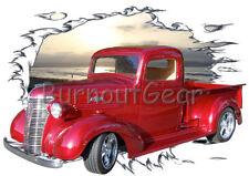 1938  Candy Red Chevy Pickup Truck b Custom HotRod Sun Set T-Shirt 38 Muscle Car
