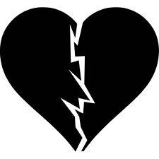 Broken Heart Vinyl Sticker Decal Cute Girl - Choose Size & Color