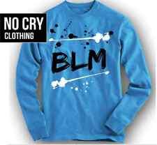 """NOcry LIVES Shirt Long Slvd in Foamposite Pro """"University Blue"""" Colorway Foams"""