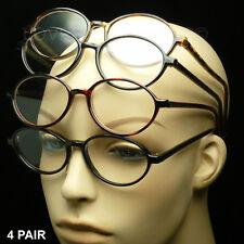 4 PAIR READING GLASSES PACK LOT LENS NEW POWER RETRO VINTAGE MEN WOMEN ROUND 60s