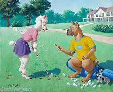 Golf Buddy piscina perros por Arthur Sarnoff Sala De Juegos Deportes de Lona impresión de arte cartel
