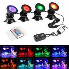 1-4Set 36 LED RGB Garden Spotlight Remote Control Landscape Light Pond Lamp SSCA