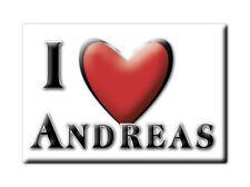 SOUVENIR UK - ENGLAND MAGNET UNITED KINGDOM I LOVE ANDREAS (ISLE OF MAN)