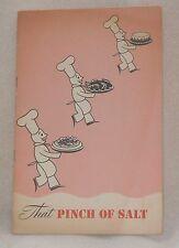 1947 GE General Electric Pinch of Salt Seasoning Roast Recipe Cook Book Booklet