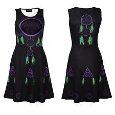 Gothic Dream Catchers Celtic Symbols Spiritual Print Sleeveless Skater dress