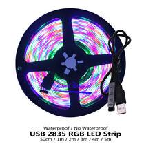 USB LED Strip Light 0.5M 1M -5M RGB 2835 TV Background Lighting Christmas DC5V