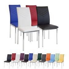 Esszimmerstühle VERONA Chrom - Farbe und Stückzahl wählbar - Stuhl Stühle SET