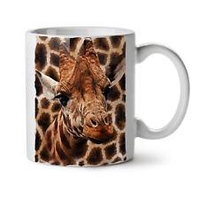 TESTA di Giraffa Animale Carino Nuovo Tazza Da Caffè Tè Bianco 11 OZ | wellcoda