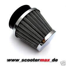 Luftfilter Rennluftfilter chrom Anschlußweite 49 bis 51 mm Sportluftfilter NEU