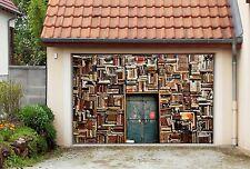 3D Bookshelf 748 Garage Door Murals Wall Print Decal Wall AJ WALLPAPER AU Carly