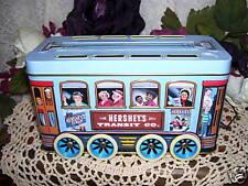 HERSHEYS TROLLEY CAR TIN BOX
