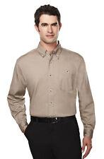 Tri-Mountain Men's Button Down Collar Two Button Cuff Trendy Dress Shirt. 810