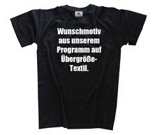 Übergröße T-Shirt mit Motiv aus unserem Sortiment XXXXL, XXXXXL, 4XL, 5XL
