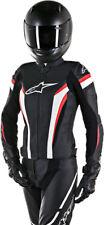 Alpinestars Womens Stella GP PLUS R V2 Perforated Leather Jacket (Black/Wht/Red)