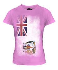 BRITISH ANTARTIC TERRITORY FADED FLAG LADIES T-SHIRT TEE TOP FOOTBALL GIFT SHIRT
