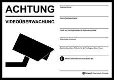DSGVO+BDSG Datenschutz-AUFKLEBER Hinweis-Schild Videoüberwachung A5 TRANSPARENT