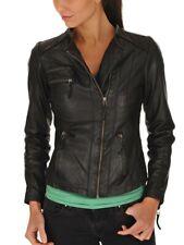 Women Leather Jacket Soft Solid Lambskin New Handmade Motorcycle Biker S M # 72