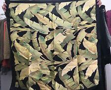 UTERQUE (ZARA GROUP) BNWT GREEN AND BLACK TROPICAL TREES SILK SCARF