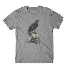 crow skull T-Shirt 100% Cotton Premium Tee NEW