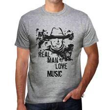 Music, Real Men Love Music Uomo Maglietta Grigio Regalo Di Compleanno 00540
