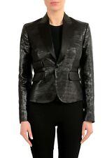 Dsquared2 Wool Silk Sparkling Black One Button Women's Blazer Sz XS S M