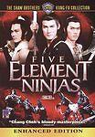 Five Element Ninjas with slip case (DVD, 2010) Chinese Super Ninja