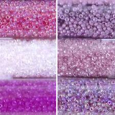 Miyuki Rocailles 15/0 rund 1,5 mm rosa, pink, flieder 5g = 1 Röhrchen