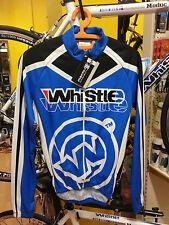 Abbigliamento Maglia Ciclismo Bicicletta Manica Lunga Whistle Skeleton Blu