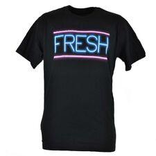 Tony Hawk Clothing Brand Fresh Line Neon Glow Light Black Tshirt Men Tee