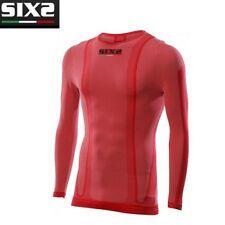 Maglia Girocollo Maglietta maniche lunghe Moto SIXS RED ROSSO 4 STAGIONI TS2C