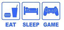 Eat Sleep Game Wall Sticker, Playstation Xbox Decor Art Vinyl PS4 Console, Wii
