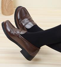Womens Japanese School Uniform Maid Lolita Cosplay Student Shoes Low Flat Heel