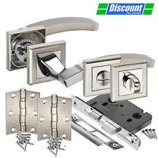 Bathroom Door Handle Pack with Arched Lever Door Handles for Bathrooms