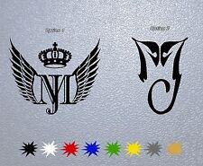 STICKER PEGATINA DECAL VINYL MJ Michael Jackson Logo,Signature,Insignia