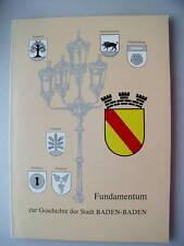 Fundamentum 1988 Geschichte der Stadt Baden-Baden