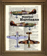 Vintage avion imprime choix de wellington, stuka, stearman, l'ouragan avions